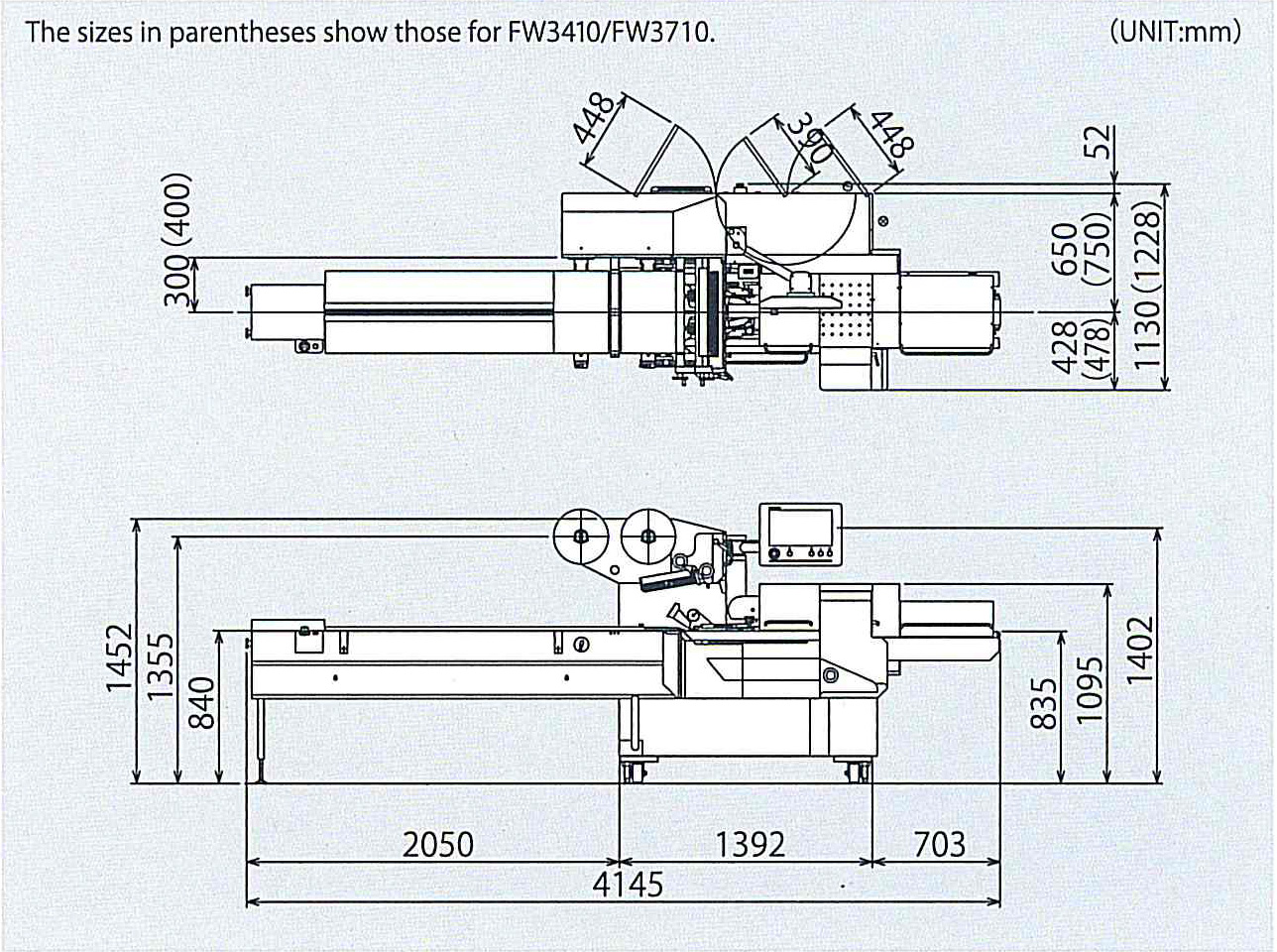Envasadora horizontal Rotativa 3400/3410