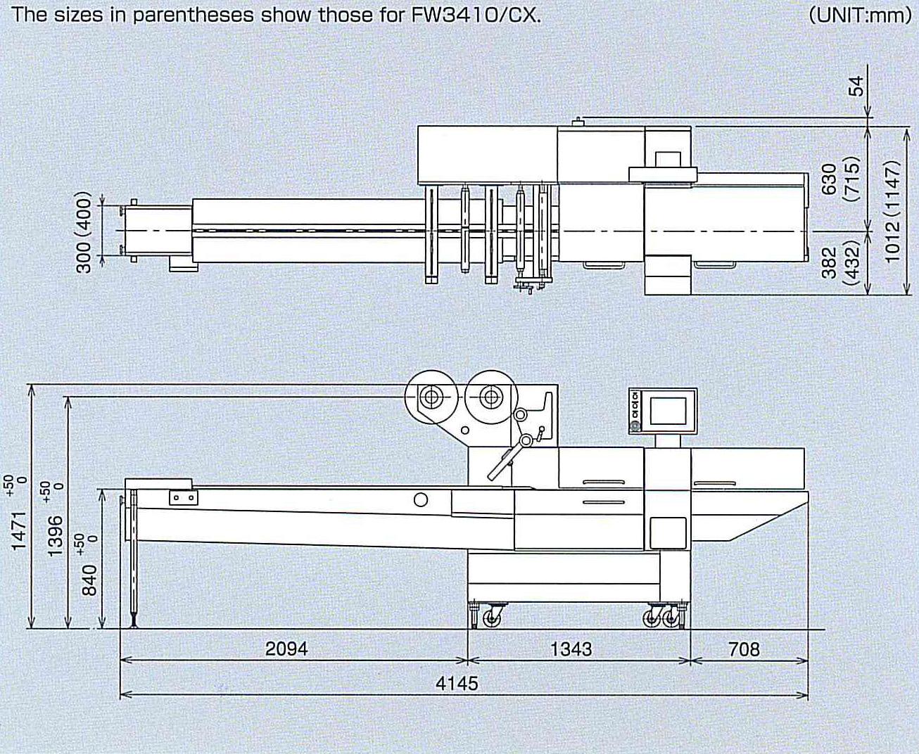 Envasadora horizontal Rotativa CX
