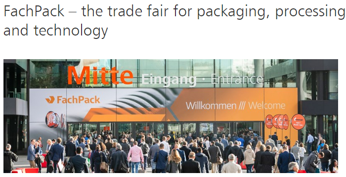 Fach Pack , 24th – 26th September 2019, Nuremberg, Germany / Hall 1, Stand 1-426